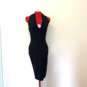 Frankie Morello Wool Knit Halter Dress Size XS